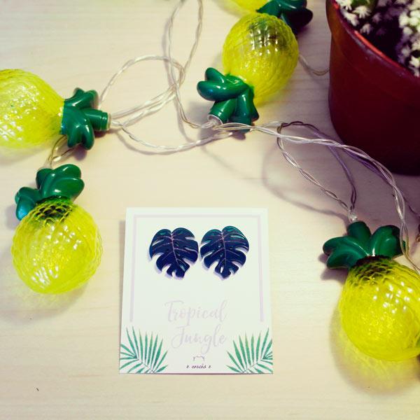 Pendientes Costilla de Adán - Colección Tropical Jungle - R más R