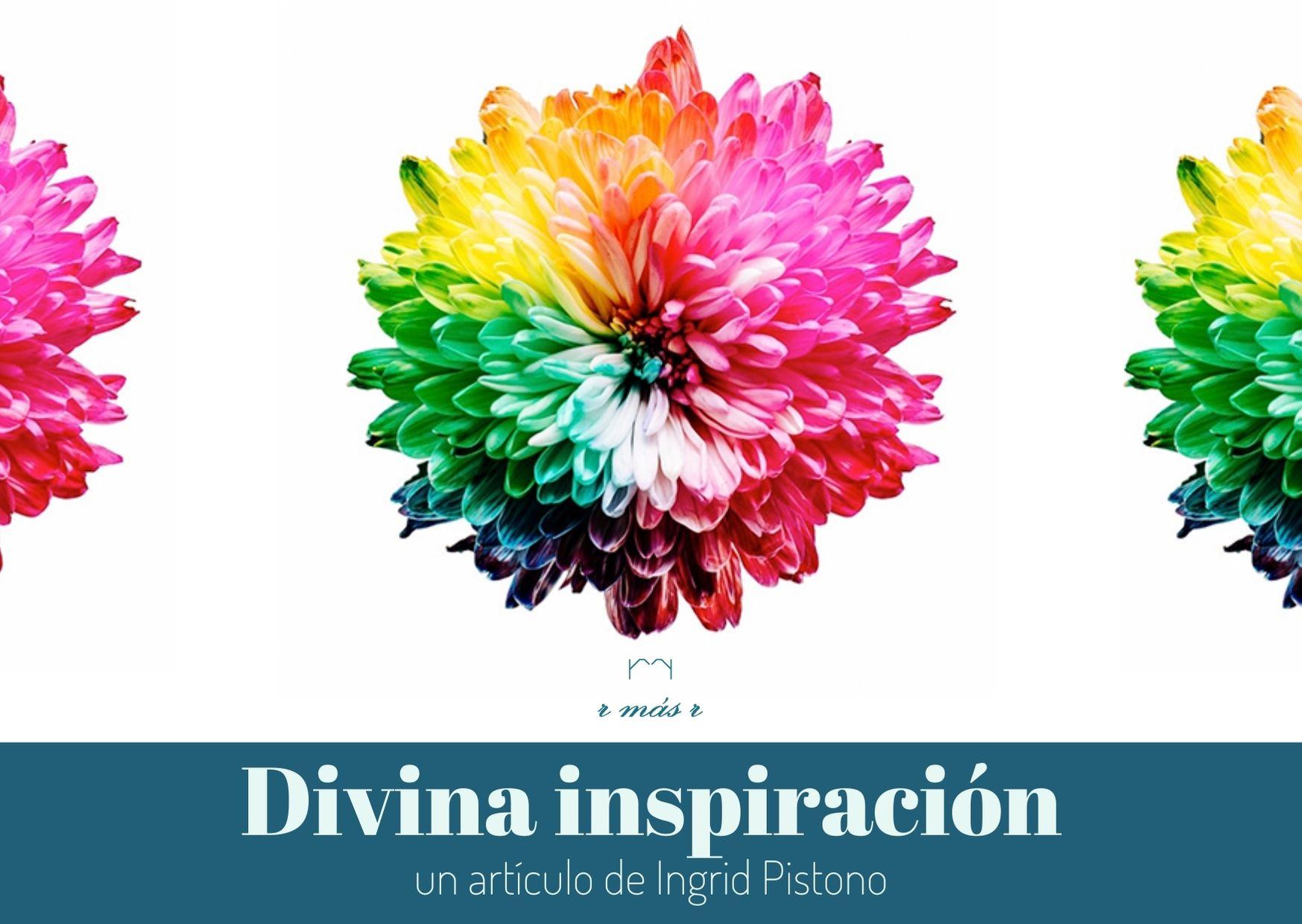 """Foto de 3 Dalias con el título del artículo: """"Divina Inspiración"""""""